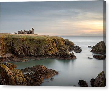 Slains Castle Sunrise Canvas Print by Dave Bowman