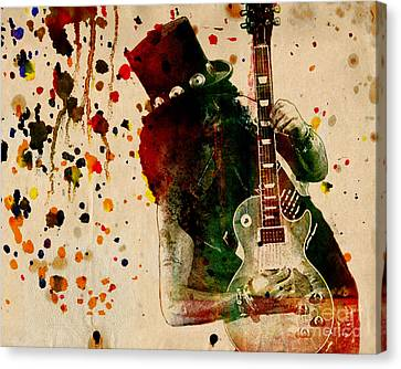 Slash - Watercolor Print From Original  Canvas Print by Ryan Rock Artist
