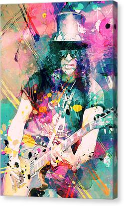 Slash Canvas Print by Rosalina Atanasova