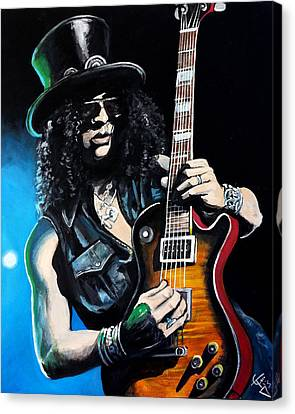 Slash Canvas Print by Tom Carlton