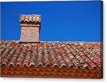 Slate Roof Canvas Print by Allen Beatty