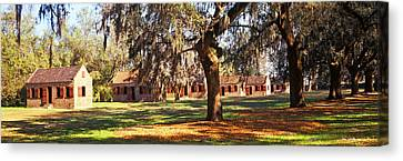 Slave Quarters, Boone Hall Plantation Canvas Print by Panoramic Images