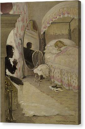 Sleeping Beauty Circa 1916 Canvas Print by Aged Pixel