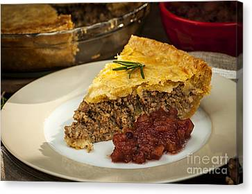 Slice Of Meat Pie Tourtiere Canvas Print by Elena Elisseeva