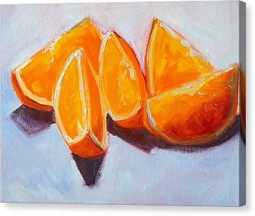 Sliced Canvas Print by Nancy Merkle