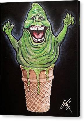 Slimer Cone Canvas Print by Tom Carlton