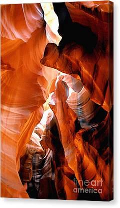 Slot Canyon Abstract 6 Canvas Print by Linda  Parker