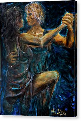 Slow Dancing II Canvas Print by Nik Helbig