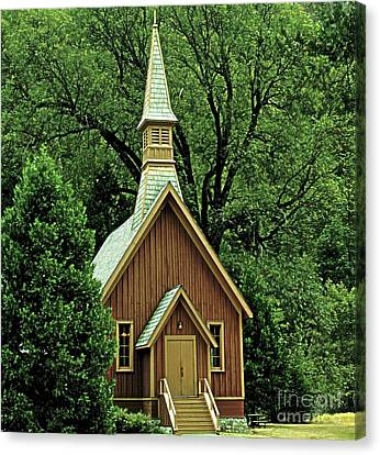 Small Chapel  Canvas Print by Kathleen Struckle