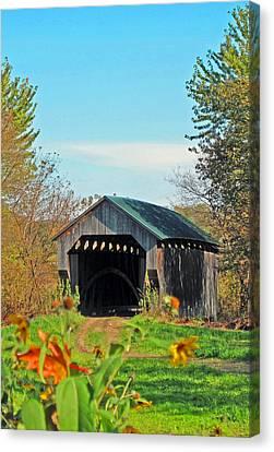 Small Private Country Bridge Canvas Print by Barbara McDevitt