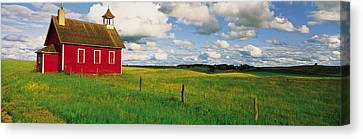 Small Red Schoolhouse, Battle Lake Canvas Print by Panoramic Images