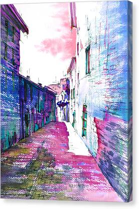 small streets of the city of Gubbio-1 Canvas Print by Khromykh Natalia