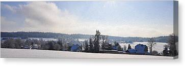 Small Village Canvas Print by Aged Pixel