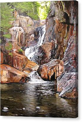 Smalls Falls Maine Canvas Print by Kevin F Heuman