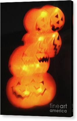 Smashing Pumpkin Stack Canvas Print by Gregory Dyer