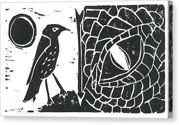 Smaug And The Thrush Canvas Print by Lynn-Marie Gildersleeve