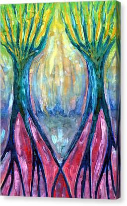 Smeared Morning Canvas Print by Wojtek Kowalski