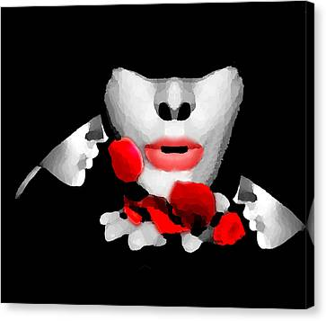 Smell The Roses 3 Canvas Print by Bruce Iorio