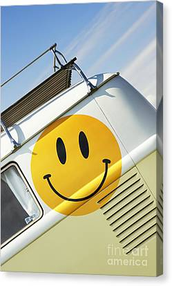 Smiley Face Vw Campervan Canvas Print by Tim Gainey