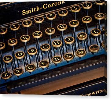 Smith Corona Vintage Typewriter Canvas Print by David and Carol Kelly