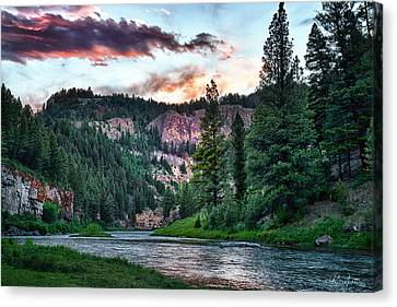 Smith River At Dusk Canvas Print by Renee Sullivan