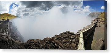 Smoke Erupting Form The Masaya Volcano Canvas Print by Panoramic Images