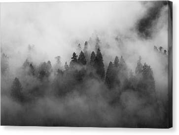 Smoke On The Mountain Canvas Print by Aaron S Bedell