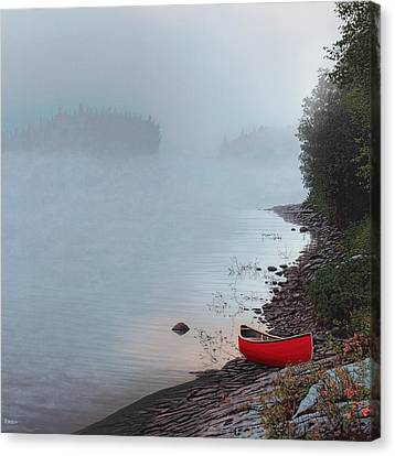 Smoke On The Water Canvas Print by Kenneth M  Kirsch