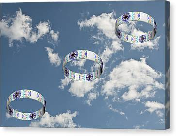 Smoke Rings In The Sky 2 Canvas Print by Steve Purnell