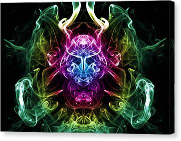 Smoke Warrior Canvas Print by Steve Purnell