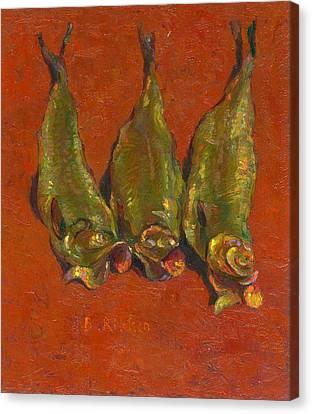 Smoked Herring Canvas Print by Ben Rikken