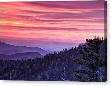 Smoky Mountain Evening Canvas Print by Andrew Soundarajan
