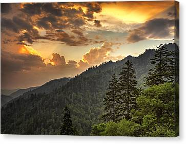 Smoky Mountain Sky Canvas Print by Andrew Soundarajan