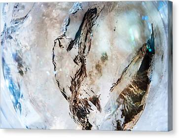 Smoky Quartz Crystal Canvas Print by Jenny Rainbow