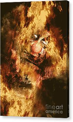 Smoky The Voodoo Clown Doll  Canvas Print by Jorgo Photography - Wall Art Gallery