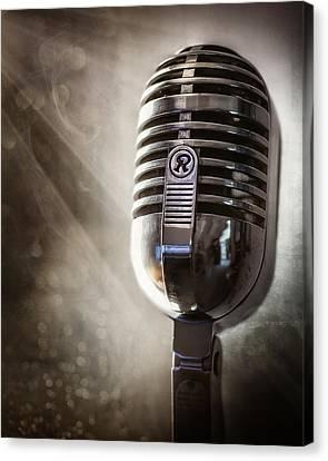 Smoky Vintage Microphone Canvas Print by Scott Norris
