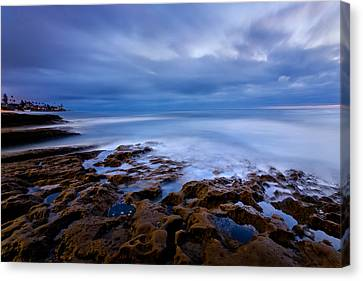 Smooth Blue Canvas Print by Peter Tellone