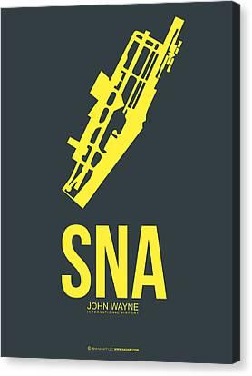 Sna Orange County Airport Poster 3 Canvas Print by Naxart Studio