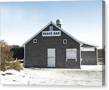 Snack Bar Off-season No. 2 Canvas Print by Brooke Ryan