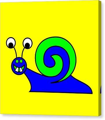Snail-e-mail Canvas Print by Asbjorn Lonvig