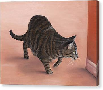 Sneaky Canvas Print by Anastasiya Malakhova