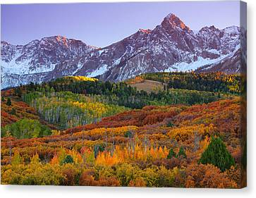 Sneffels Sunrise Canvas Print by Darren  White