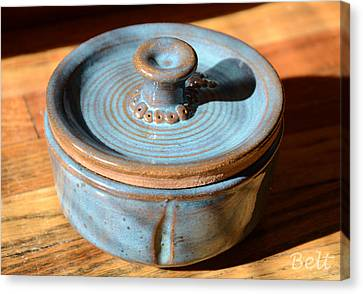 Snickerhaus Pottery-vessel With Lid Canvas Print by Christine Belt