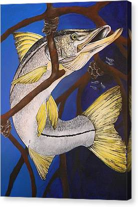 Snook Painting Canvas Print by Lisa Bentley