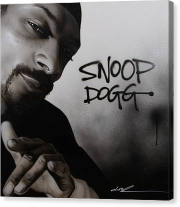 ' Snoop Dogg ' Canvas Print by Christian Chapman Art