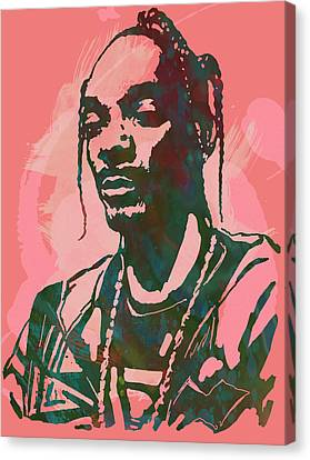 Snoop Dogg - Stylised Pop Art Drawing Potrait Poser Canvas Print by Kim Wang