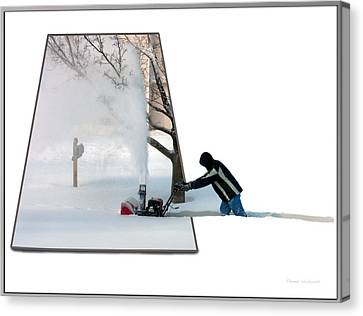 Snow Blower Canvas Print by Thomas Woolworth