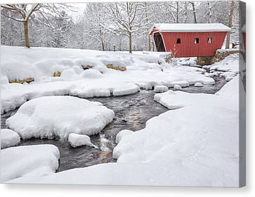 The Stillness Of Winter Canvas Print by Bill Wakeley