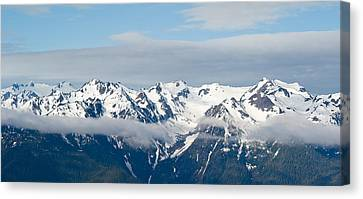Snow Covered Mountains, Hurricane Canvas Print by Panoramic Images