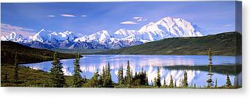 Snow Covered Mountains, Mountain Range Canvas Print by Panoramic Images